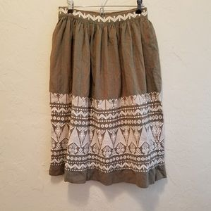Vintage Woven Ethnic Embroidered Guatemalan Skirt